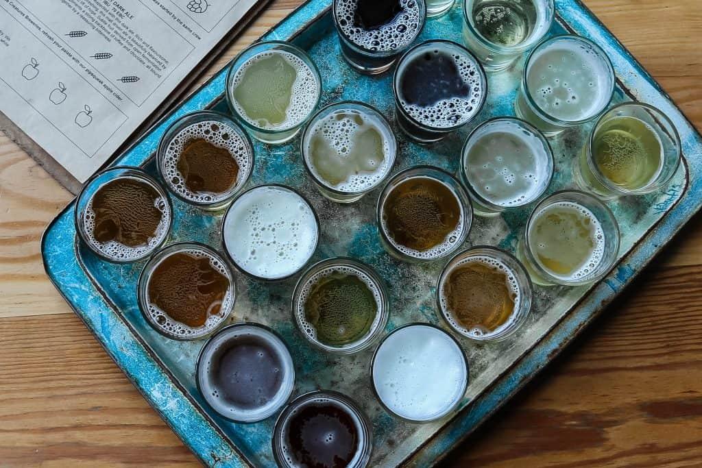custom contract brewing kombucha - customer samples